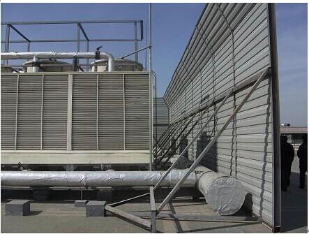 ⑸ 冷却塔管道支架安装不详,不予考虑由于管道振动引起结构噪声对